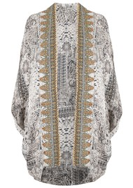 INOA Short Silk Printed Shrug - Blanco Neve