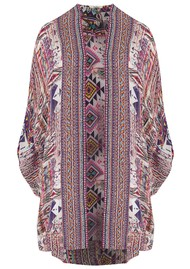 INOA Short Silk Printed Shrug - Peruvian