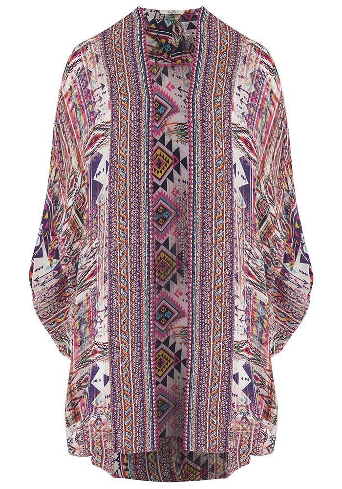 INOA Short Silk Printed Shrug - Peruvian main image