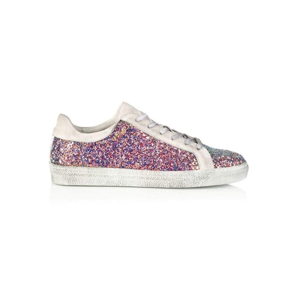 Cru Glitter Trainer - Multi Pink