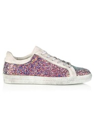 AIR & GRACE Cru Glitter Trainer - Multi Pink