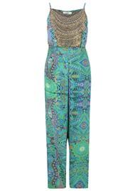 INOA Printed Silk Jumpsuit - Emerald