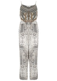 INOA Printed Silk Jumpsuit - Blanco Neve