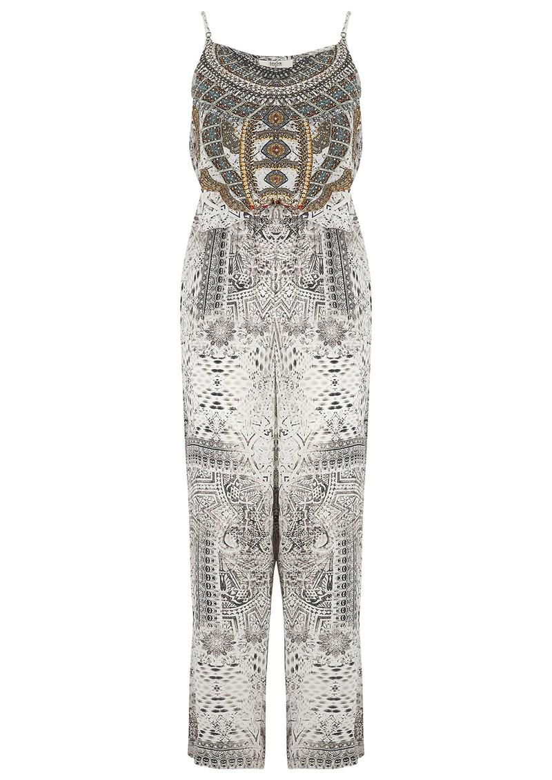 INOA Printed Silk Jumpsuit - Blanco Neve main image