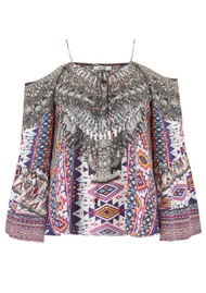INOA Gypsy Silk Printed Top - Peruvian