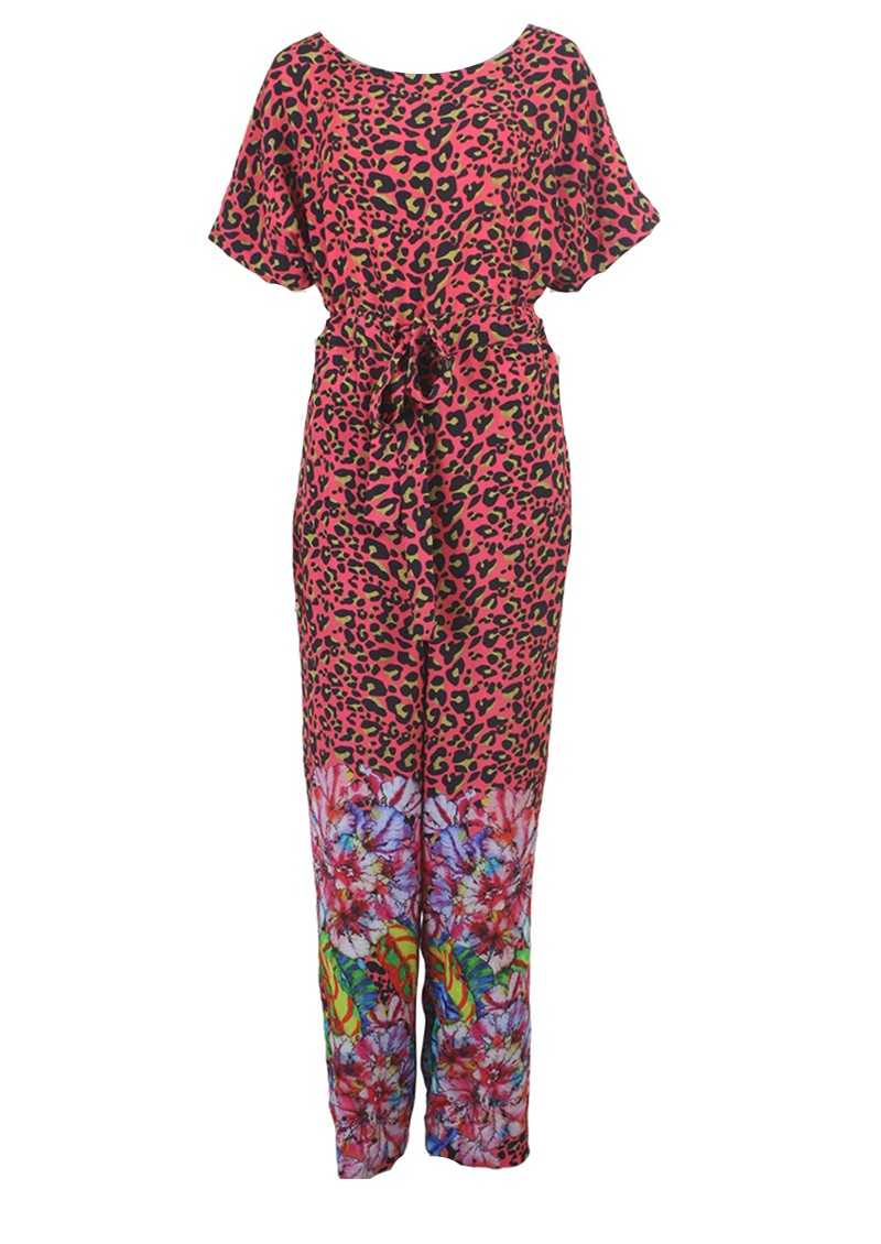 Blank Aqaba Printed Jumpsuit - Red main image
