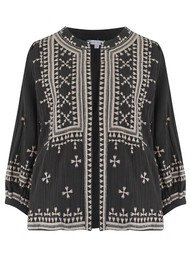 Star Mela Fabiana Embroidered Jacket - Black Beige