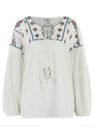 Star Mela Sierra Embellished Top - Ecru