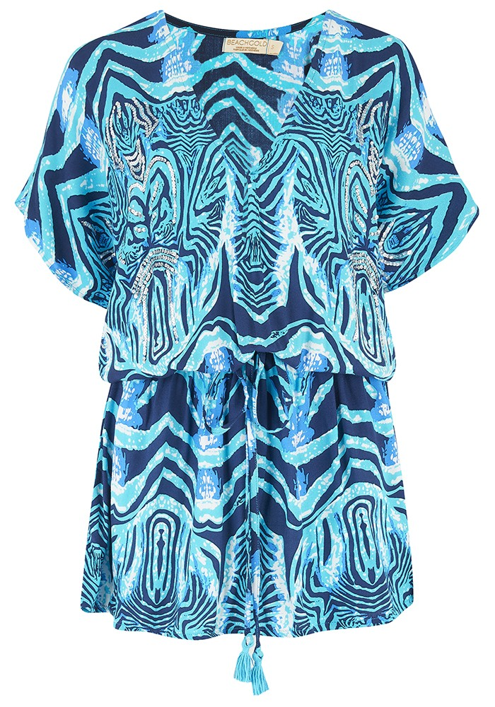 BEACH GOLD Mojito Mini Dress - Ocean main image