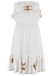 LINDSEY BROWN Atheni Bandeau Dress - White & Rose Gold
