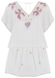 LINDSEY BROWN Paloma Drop Waist Dress - White