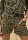 Ba&sh Lore Bermuda Shorts - Khaki Leopard
