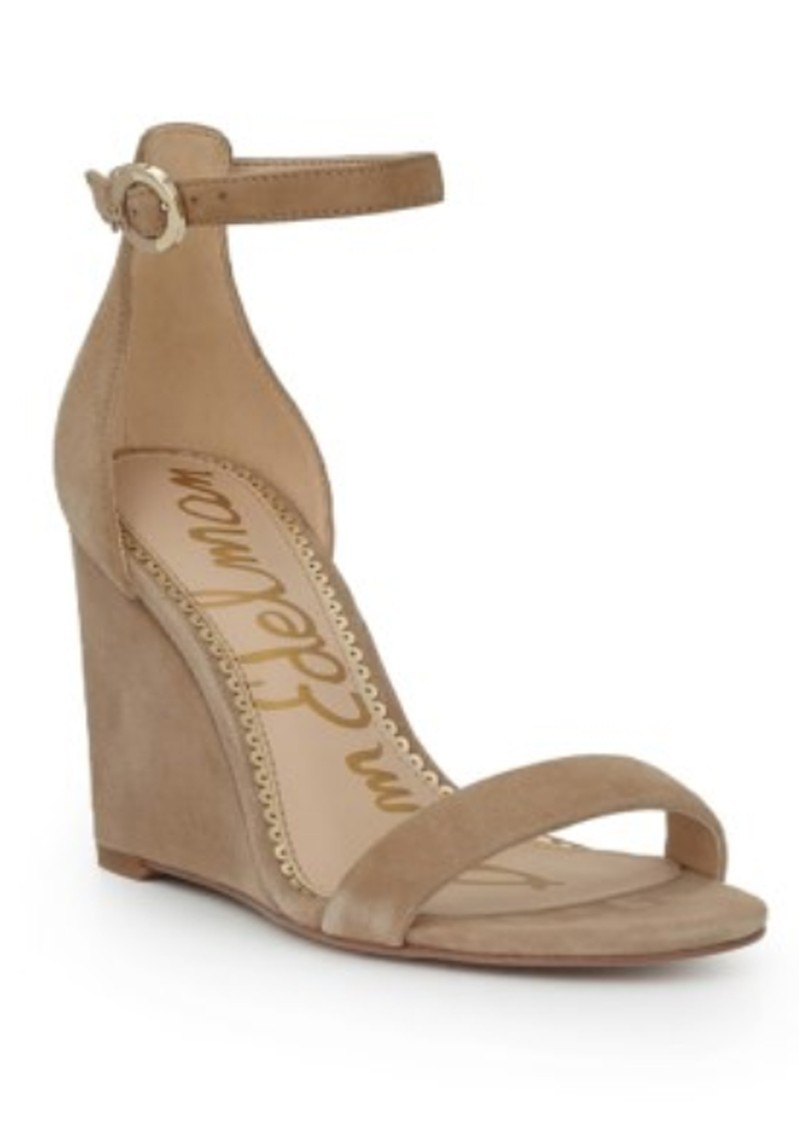 Neesa Suede Wedge - Oatmeal main image