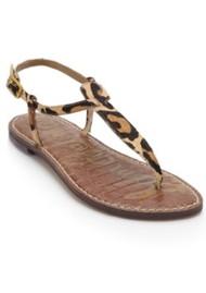 Sam Edelman Gigi Thong Sandal New Nude Leopard