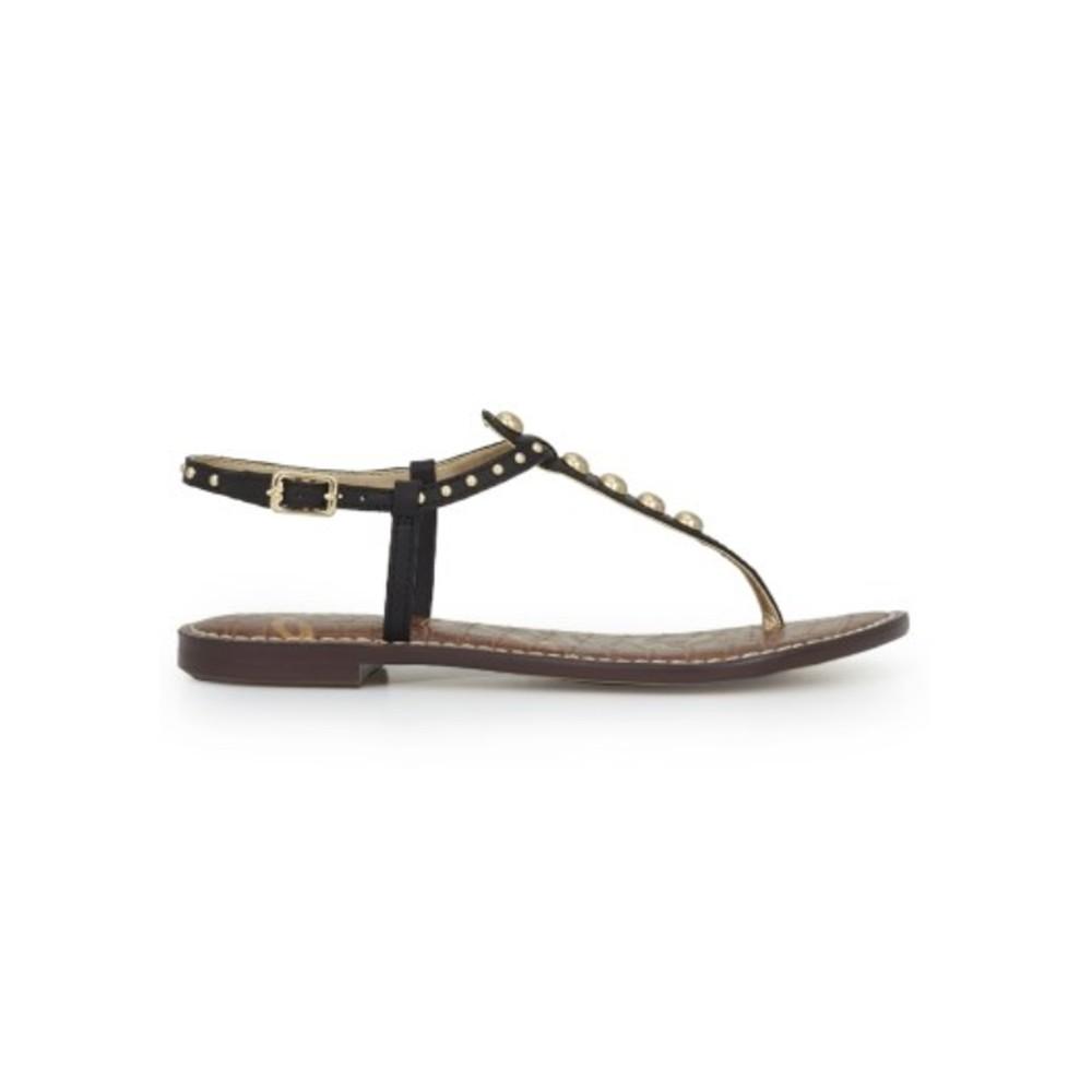 Gigi Studded Thong Sandal - Black