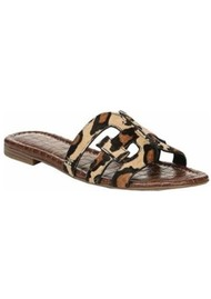 Sam Edelman Bay Leopard Sliders - New Nude