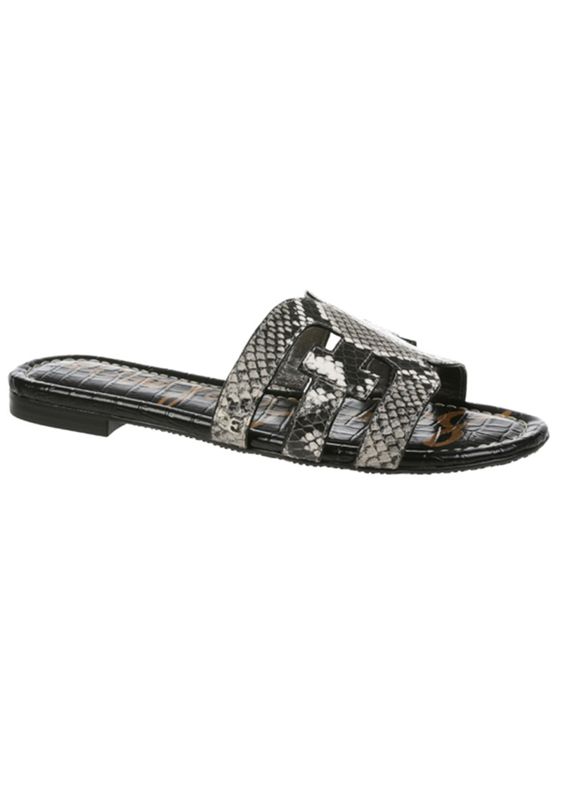 Sam Edelman Bay Exotic Leather Sandals - Black & White main image
