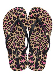 Ipanema Animal Print Flip Flops - Black
