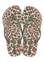 Animal Print Flip Flops - Khaki additional image