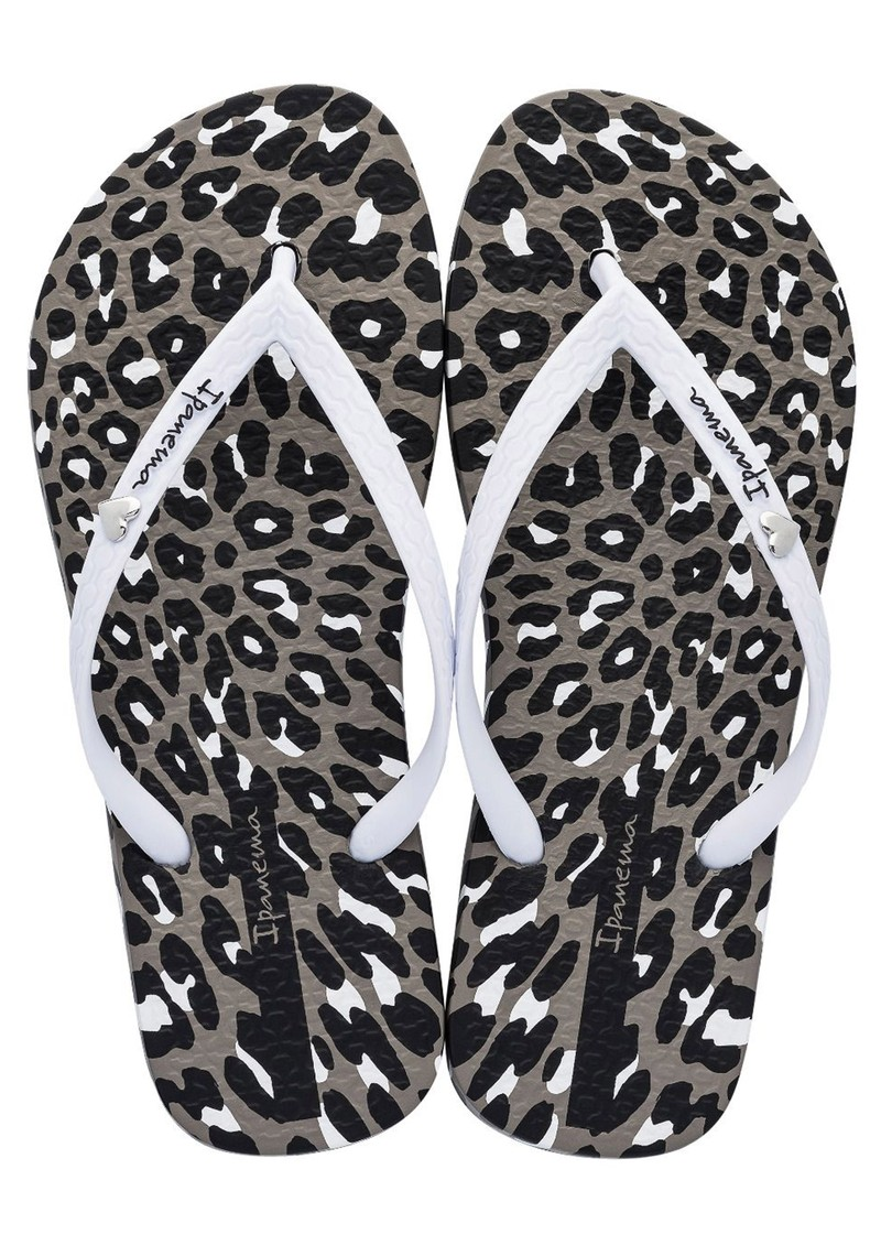 Ipanema Animal Print Flip Flops - White main image