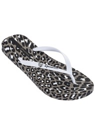 Ipanema Animal Print Flip Flops - White