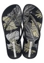 Ipanema Anatomica Nature Leaf Flip Flops - Black