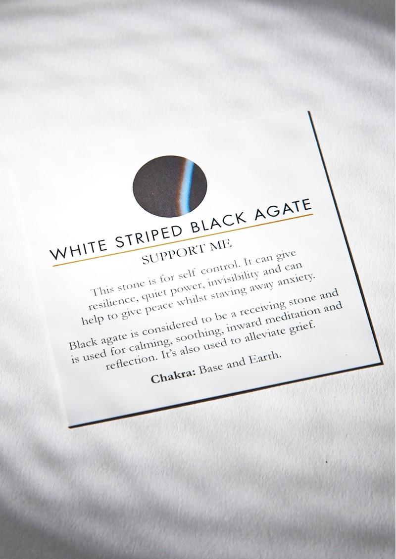 SVP Atomic Midi Adjustable Ring - Stripe Black Onyx & Silver main image