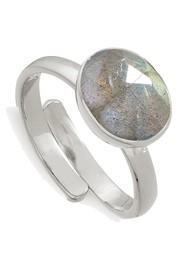 SVP Atomic Midi Adjustable Ring - Labradorite & Silver