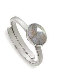 SVP Atomic Mini Adjustable Ring - Labradorite & Silver
