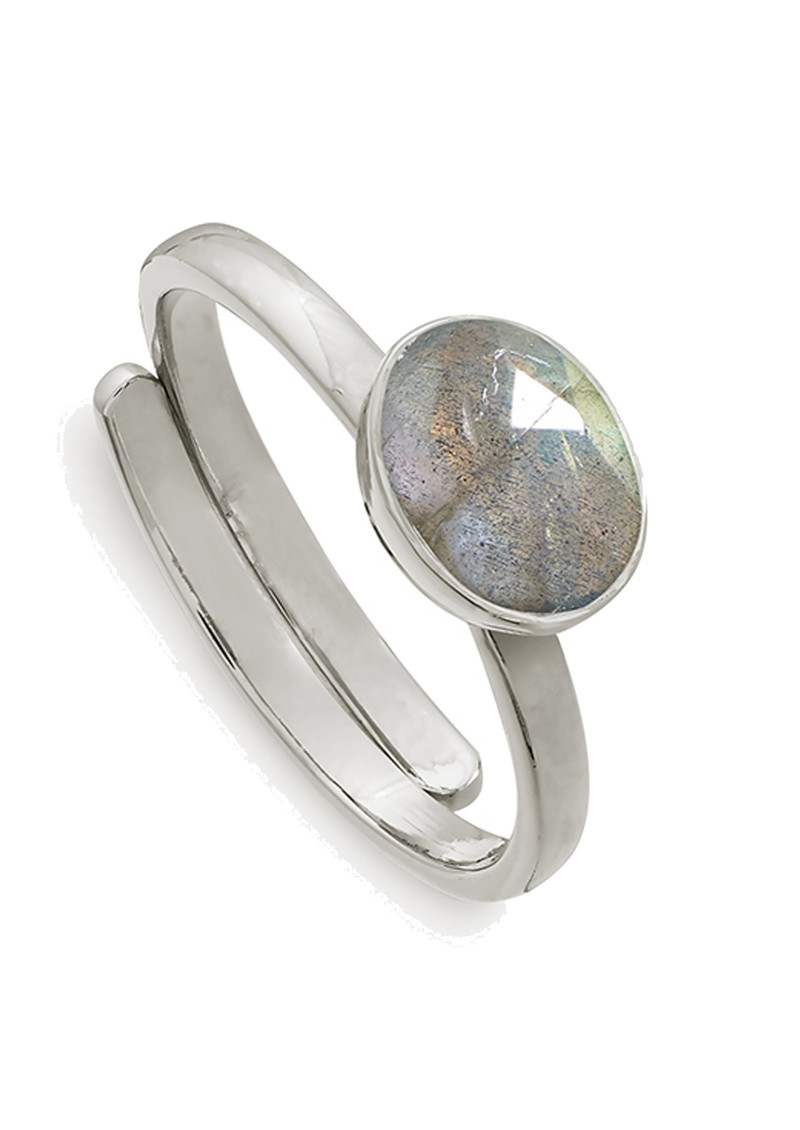 SVP Atomic Mini Adjustable Ring - Labradorite & Silver main image