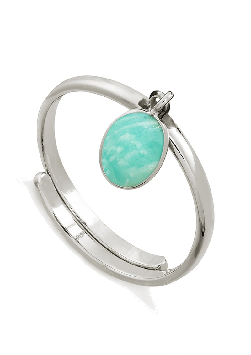 SVP Rio Adjustable Ring - Amazonite & Silver main image
