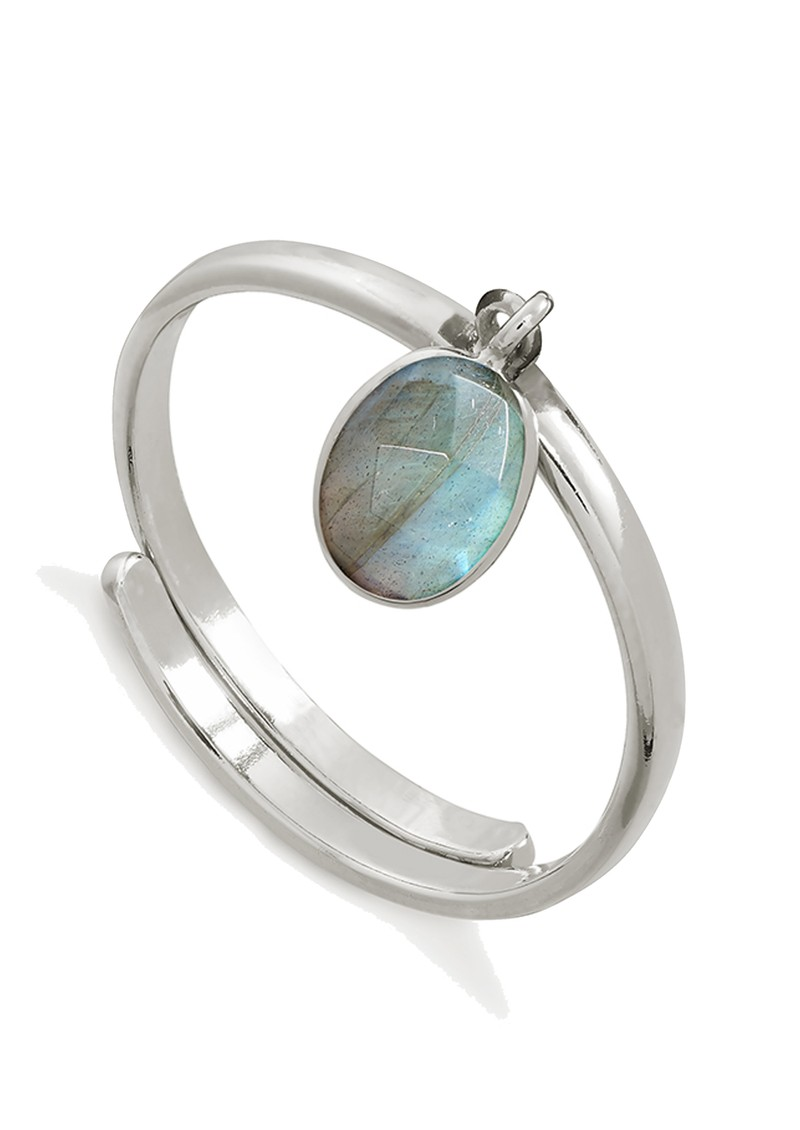 SVP Rio Adjustable Ring - Labradorite & Silver main image