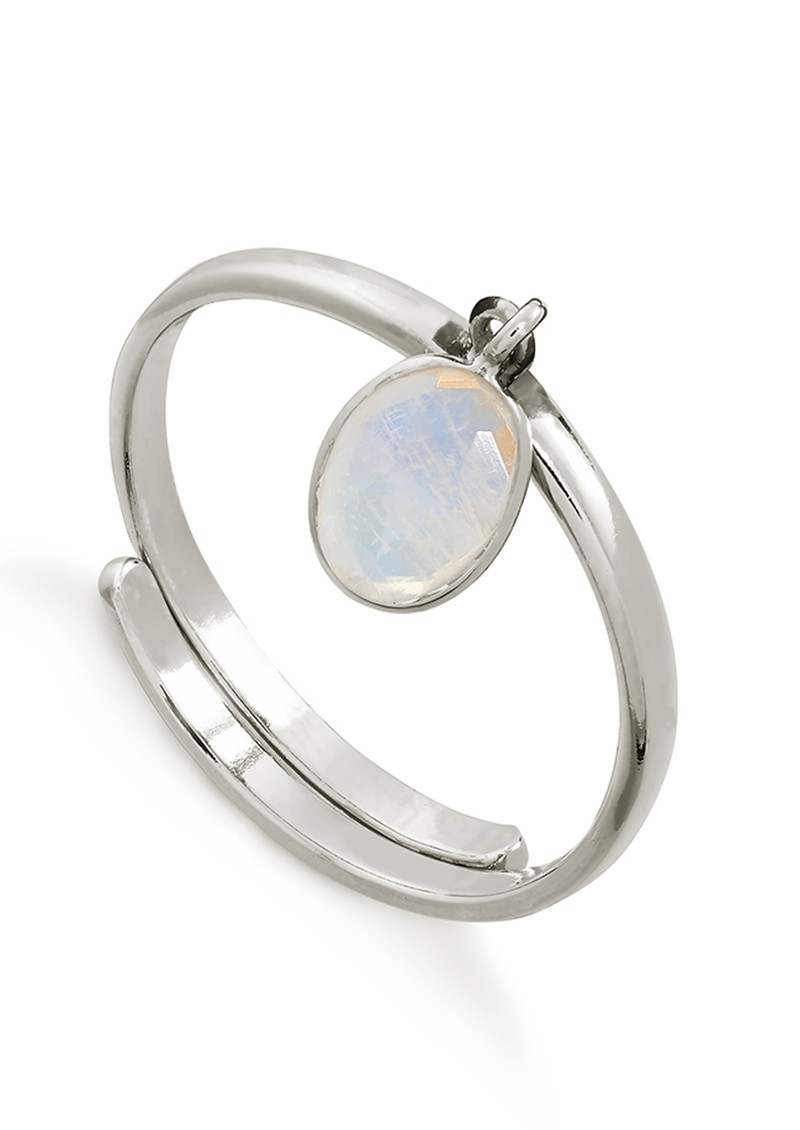 SVP Rio Adjustable Ring - Rainbow Moonstone & Silver main image