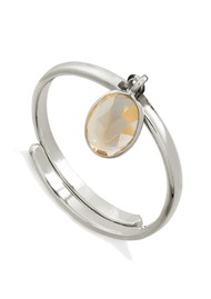 SVP Rio Adjustable Ring - Citrine & Silver