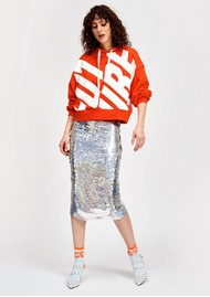ESSENTIEL ANTWERP Snowflake Sequin Skirt - Silver