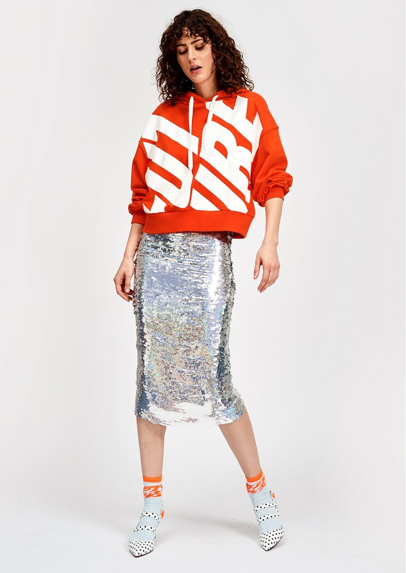 Snowflake Sequin Skirt - Silver main image