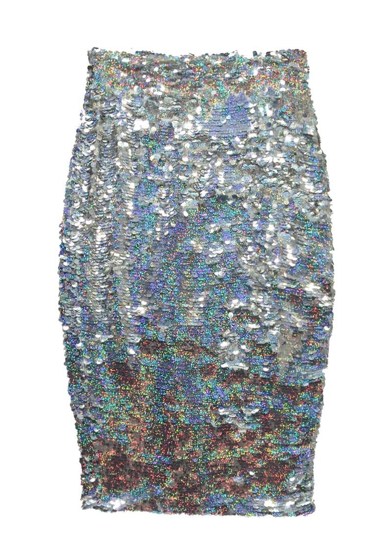 ESSENTIEL ANTWERP Snowflake Sequin Skirt - Silver main image