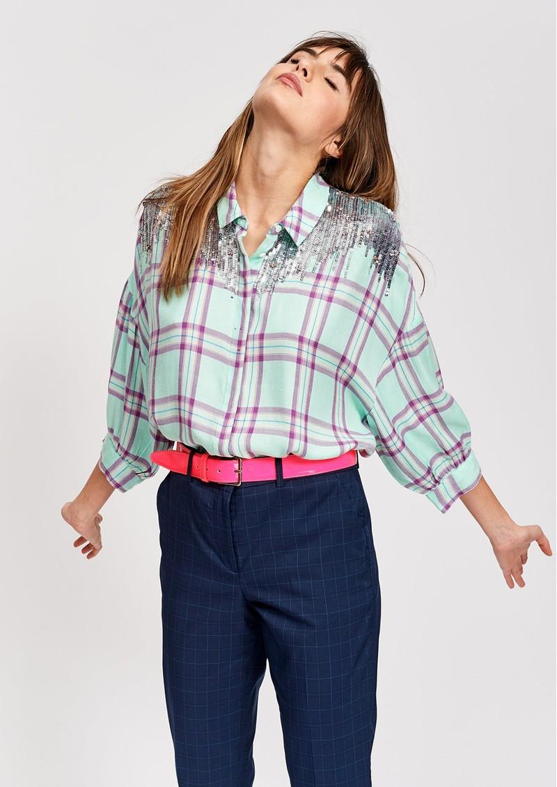 ESSENTIEL ANTWERP Scenery Sequin Shirt - Caipirnha main image