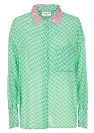 ESSENTIEL ANTWERP Shitayay Embellished Collar Shirt - Green Tea