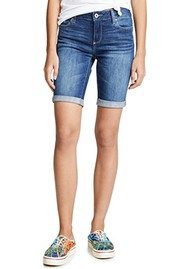 Paige Denim Jax Knee Denim Shorts - Delmont
