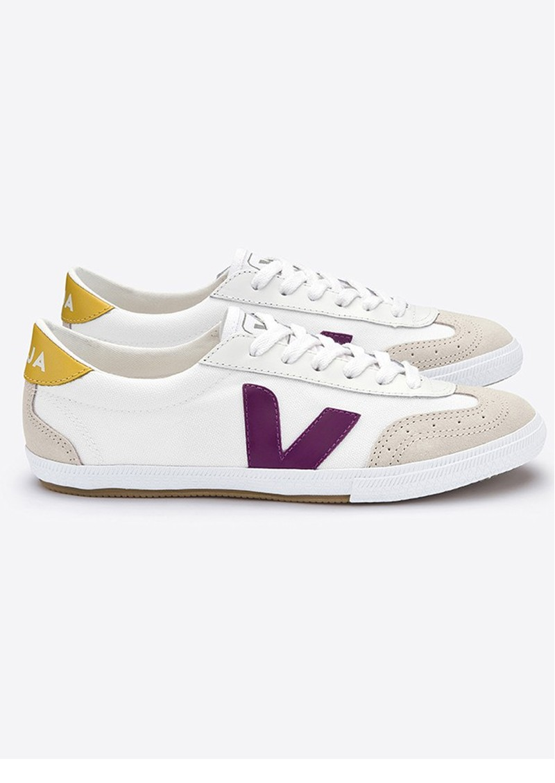 VEJA Volly Canvas Trainer - White Berry