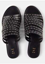SHOE THE BEAR Jenna Stud Sandals - Black