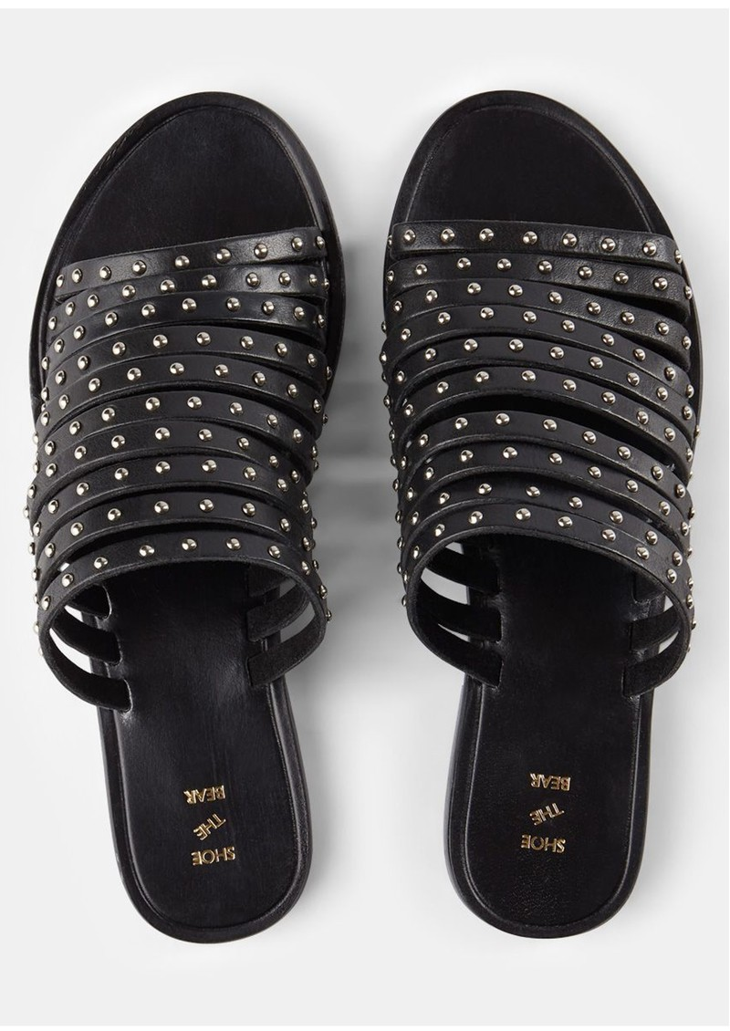 Jenna Stud Sandals - Black main image