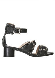 SHOE THE BEAR Aya Stud Sandals - Black