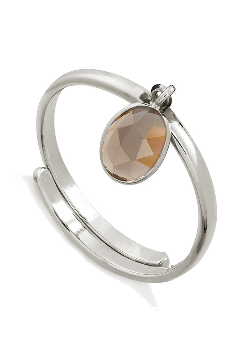 SVP Rio Adjustable Ring - Smoky Quartz & Silver main image