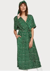 Maison Scotch Midi Length Wrap Over Printed Dress - Combo A