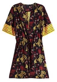 Maison Scotch Mixed Print Dress - Combo A