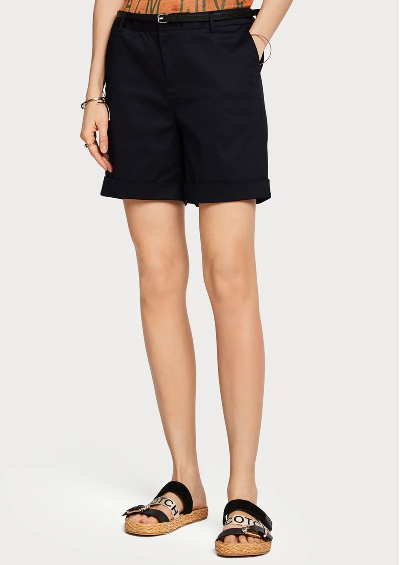 Maison Scotch Mercerised Chino Shorts - Night main image