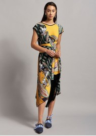 BEATRICE B Pleated Tunic Dress - Tropical Print