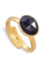 SVP Atomic Midi Adjustable Ring - Blue Sunstone & Gold